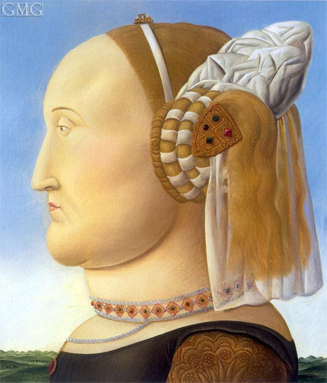 Battista Sforza (after Piero della Francesca), 1998 | Botero | Gemälde Reproduktion