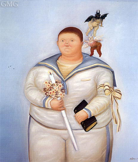 Self-Portrait on the Day of First Communion, 1970 | Botero | Gemälde Reproduktion