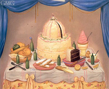 Bon Anniversaire, 1971 | Botero | Painting Reproduction