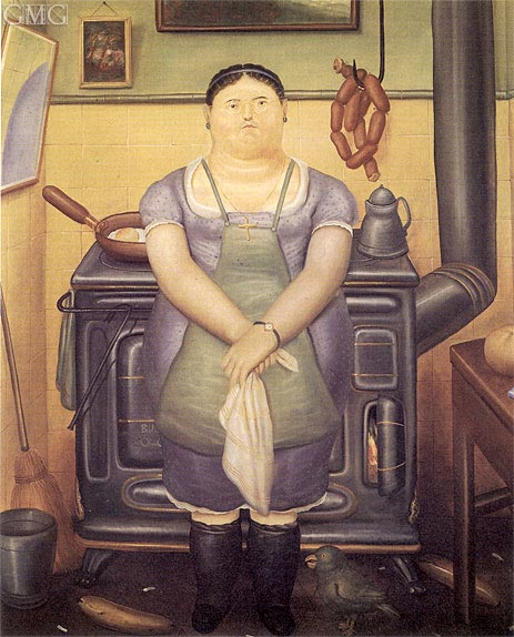 The Maid, 1974 | Botero | Gemälde Reproduktion