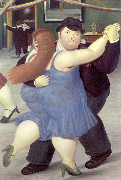 Dancers, 1987 | Botero | Painting Reproduction