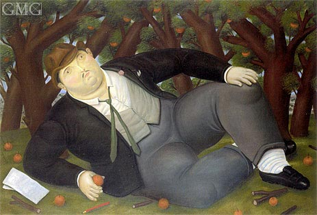 The Poet, 1987 | Botero | Painting Reproduction