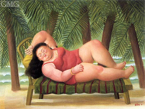 Bather on the Beach, 2001 | Botero | Painting Reproduction