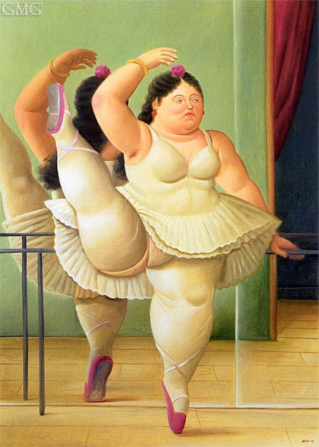 Dancer at the Pole, 2001 | Botero | Painting Reproduction