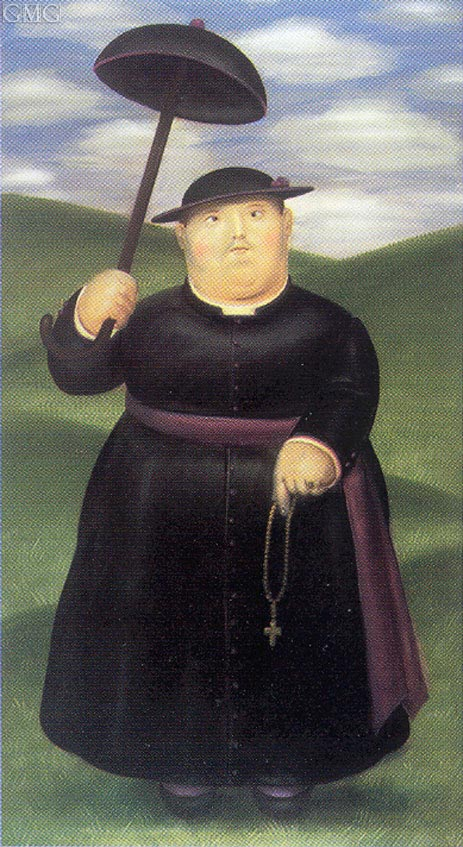 Walk in the Hills, 1977 | Botero | Painting Reproduction