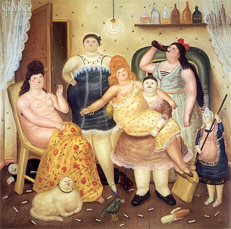The House of Mariduque, 1970 | Botero | Gemälde Reproduktion
