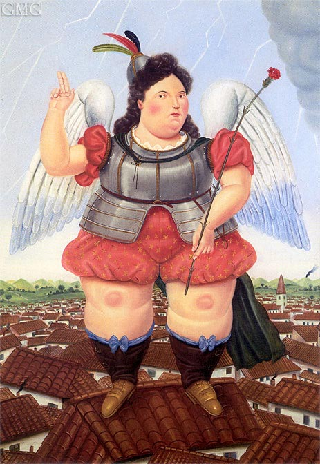 Archangel, 1986 | Botero | Painting Reproduction