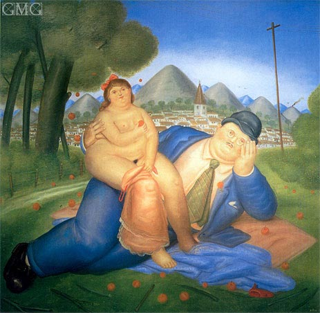 Loving Couple, 1973 | Botero | Painting Reproduction