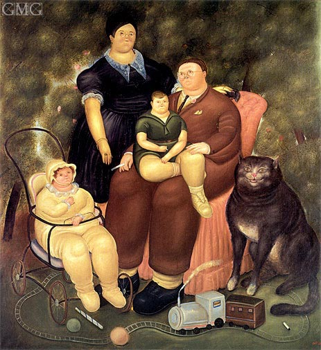 Family Scene, 1969 | Botero | Painting Reproduction