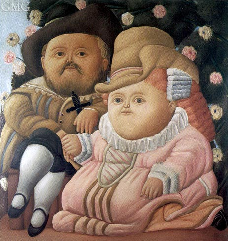 Rubens and his Wife, 1965 | Botero | Gemälde Reproduktion