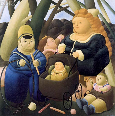 The Rich Children, 1968 | Botero | Painting Reproduction