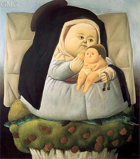 Madonna and Child, 1965 | Botero | Painting Reproduction