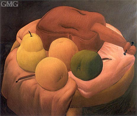 Still Life with Violin, 1965 | Botero | Gemälde Reproduktion