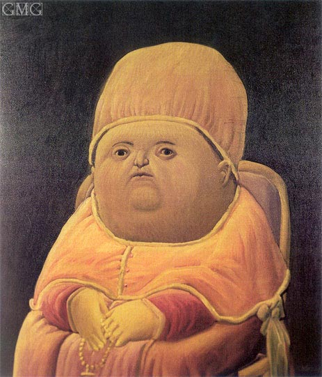 Portrait of Pope Leo X (after Raphael), 1964 | Botero | Painting Reproduction
