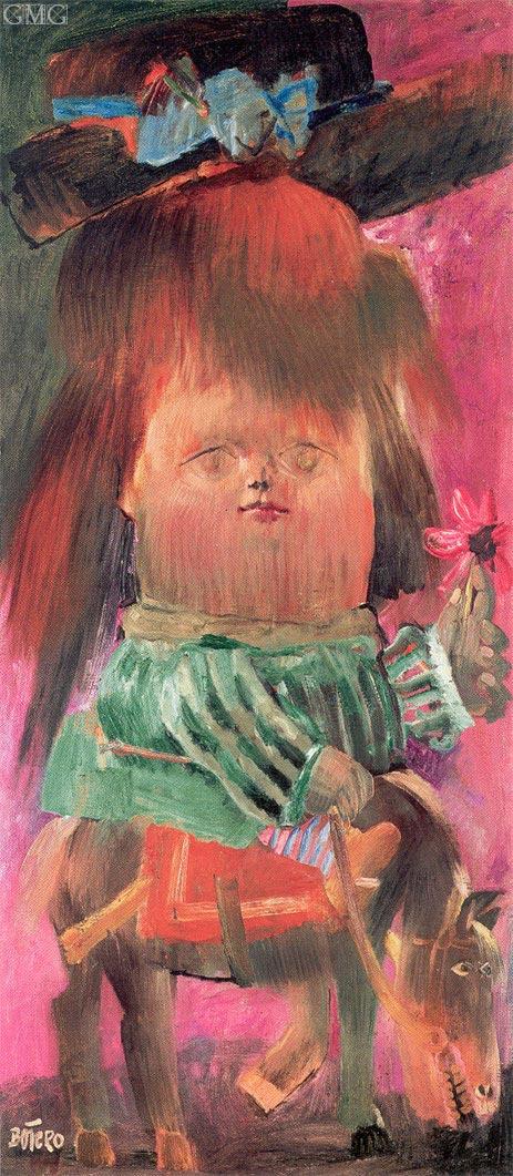 Botero | Girl on Donkey, 1959