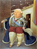 Louis XVI Visiting Medellin, Colombia | Fernando Botero (inspired by)