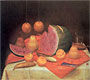 Still-Life with Watermelon | Fernando Botero (inspired by)