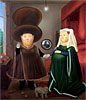 The Arnolfini Marriage (after van Eyck) | Fernando Botero (inspired by)