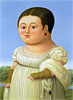 Mademoiselle Riviere (after Ingres) | Fernando Botero (inspired by)