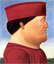 Federico da Montefeltro (after Piero della Francesca) | Fernando Botero (inspired by)