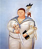 Self-Portrait on the Day of First Communion | Fernando Botero (inspired by)