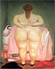Woman Putting on her Brassiere | Fernando Botero (inspired by)