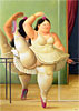 Dancer at the Pole | Fernando Botero (inspired by)