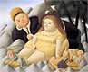 Picnic in the Mountains | Fernando Botero (inspired by)