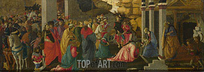 Adoration of the Kings, c.1470 | Filippino Lippi| Painting Reproduction