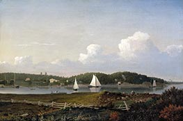 Fresh Water Cove from Dolliver's Neck, Gloucester, c.1850/54 by Fitz Henry Lane | Painting Reproduction