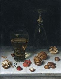 Still Life with Walnuts, Hazelnuts and Strawberries, 1611 von Floris van Dijck | Gemälde-Reproduktion