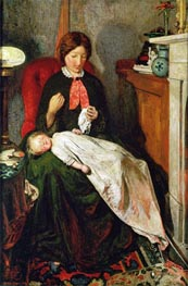 Waiting: an English Fireside of 1854-55, c.1851/55 by Ford Madox Brown | Painting Reproduction