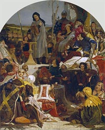 Chaucer at the Court of Edward III | Ford Madox Brown | outdated