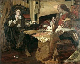 Cromwell, Protector of the Vaudois | Ford Madox Brown | outdated
