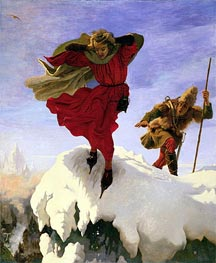 Manfred on the Jungfrau, c.1840/61 von Ford Madox Brown | Gemälde-Reproduktion