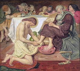 Jesus Washing Peter's Feet | Ford Madox Brown | outdated