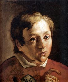 Head of a Page Boy, c.1837 by Ford Madox Brown | Painting Reproduction