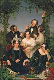 Family Group (The Bromley Family), 1844 by Ford Madox Brown | Painting Reproduction