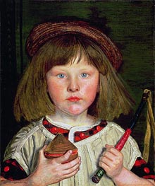 The English Boy, 1860 by Ford Madox Brown | Painting Reproduction