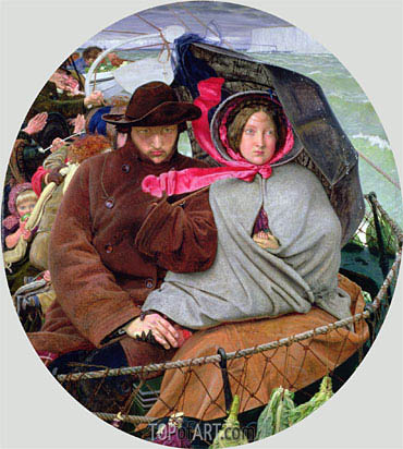 The Last of England, c.1852/55 | Ford Madox Brown| Painting Reproduction