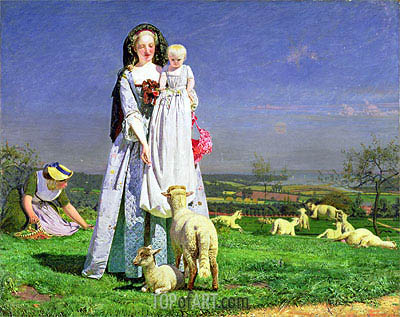 The Pretty Baa-Lambs, c.1851/59 | Ford Madox Brown| Painting Reproduction
