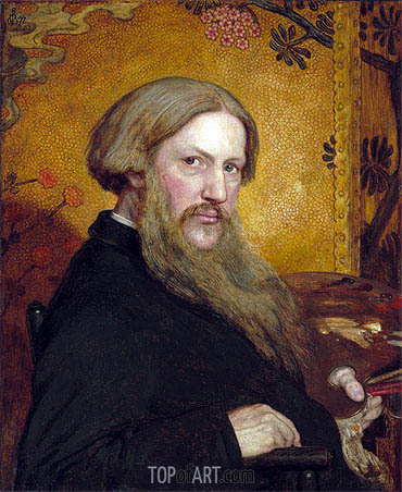 Self Portrait, 1877 | Ford Madox Brown| Gemälde Reproduktion