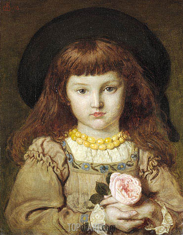 La Rose de l'Infante (Effie Stillman), 1876 | Ford Madox Brown | Painting Reproduction