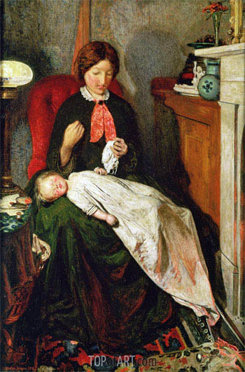 Waiting: an English Fireside of 1854-55, c.1851/55 | Ford Madox Brown| Painting Reproduction