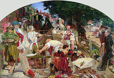 Work, 1863 | Ford Madox Brown| Painting Reproduction