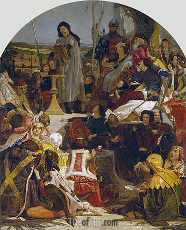 Chaucer at the Court of Edward III, c.1847/51 | Ford Madox Brown | Gemälde Reproduktion