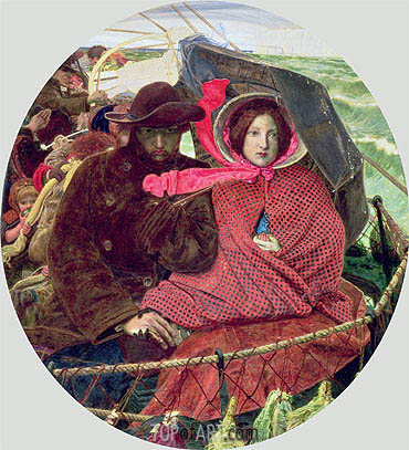 The Last of England, 1860 | Ford Madox Brown | Gemälde Reproduktion