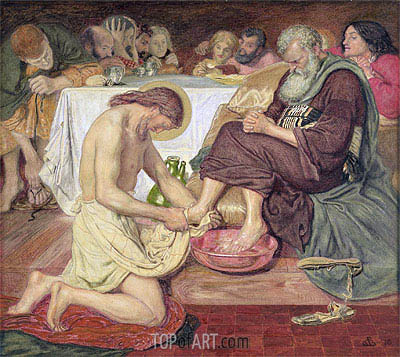 Jesus Washing Peter's Feet, 1876 | Ford Madox Brown| Painting Reproduction