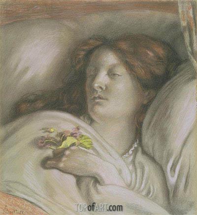 Convalescent (Emma), 1872 | Ford Madox Brown | Painting Reproduction
