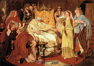 Cordelia's Portion, c.1867/75 | Ford Madox Brown| Painting Reproduction